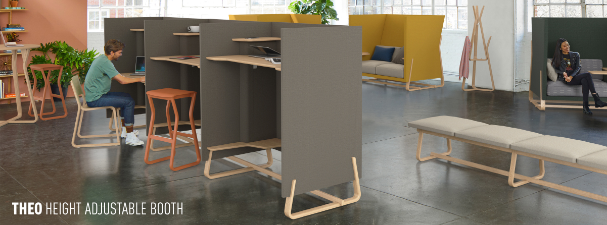 THEO HEIGHT ADJUSTABLE BOOTH